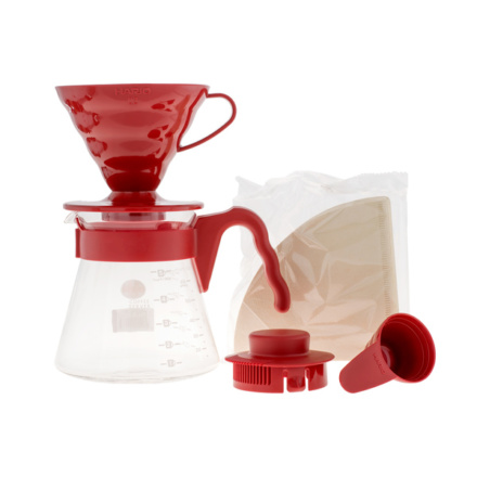 Hario Coffee Server V60-02 roșu