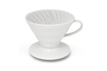 Hario Coffee Dripper V60-02 ceramic alb