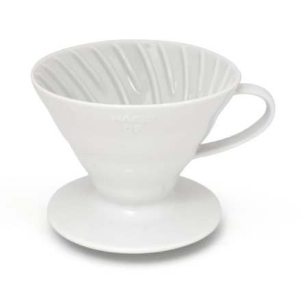 Hario Coffee Dripper V60-02 ceramic alb
