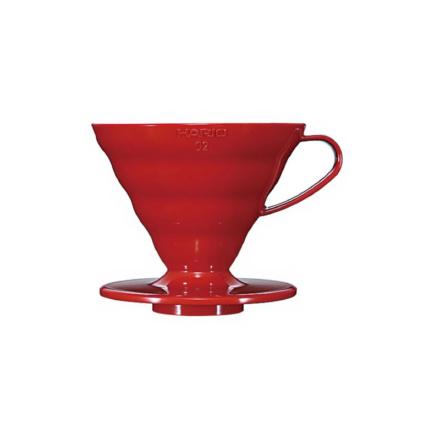 Hario Coffee Dripper V60-02 plastic roșu