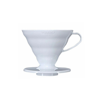 Hario Coffee Dripper V60-02 plastic alb